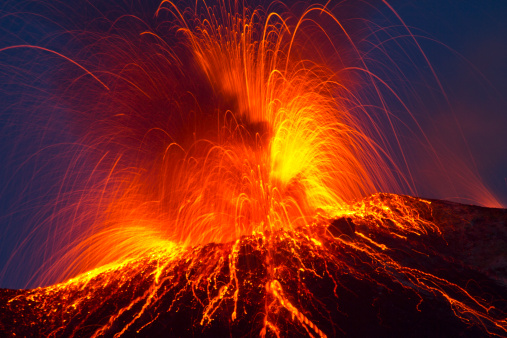 Volcanic Eruption Stock Photo - Download Image Now