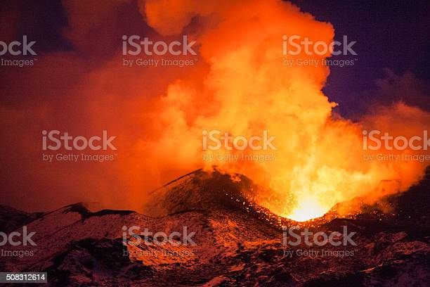 Photo of volcanic eruption
