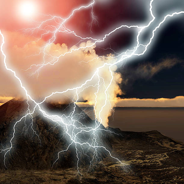 Best Volcano Lightning Stock Photos, Pictures & Royalty-Free