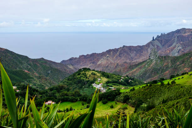 Volcanic features on St Helena stock photo