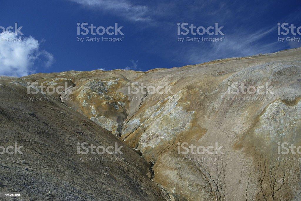 Campos vulcânica myvatn foto de stock royalty-free