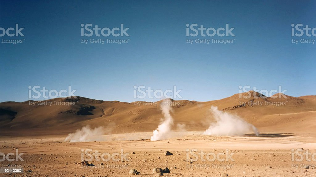 volcanic geysers  atacama desert royalty-free stock photo