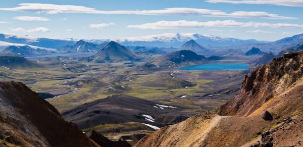 Volcanic History Landscape stock photo