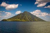 Volcanic island Stromboli