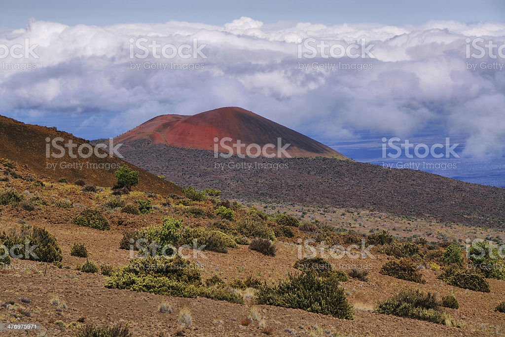 Volcanic landscape from Mauna Kea stock photo