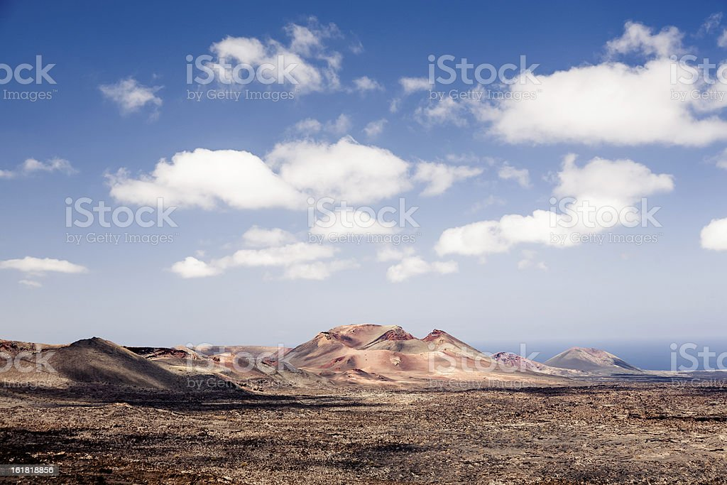 Volcanic landscape. Fuerteventura royalty-free stock photo