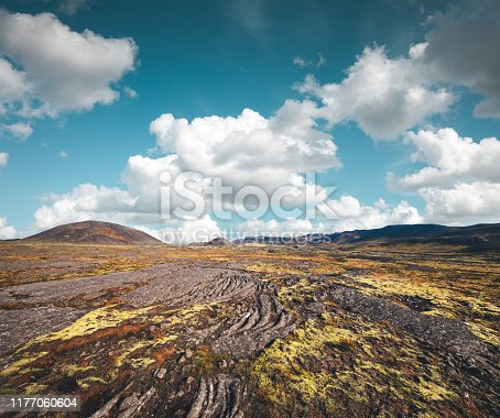 Colorful volcanic landscape in Iceland