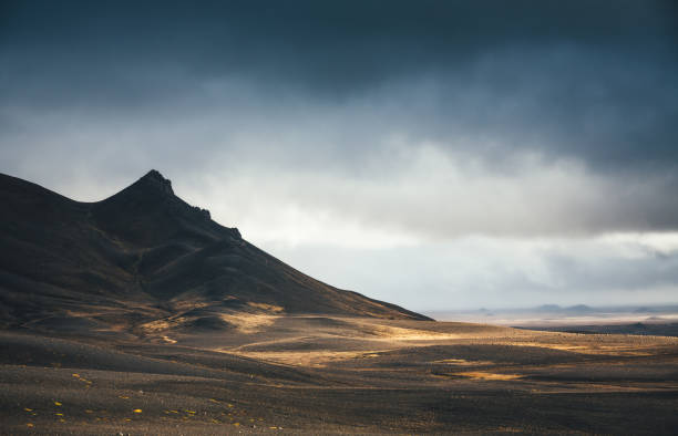 Volcanic Landscape In Iceland stock photo