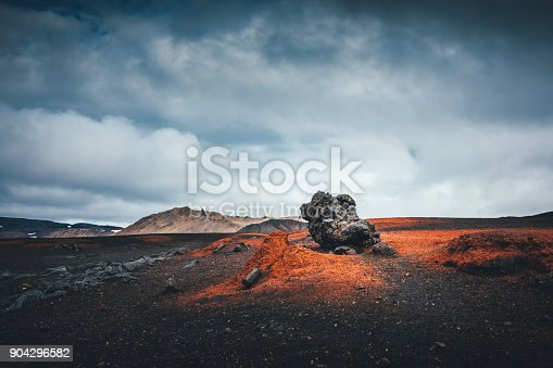 Dramatic icelandic landscape near Askja caldera.
