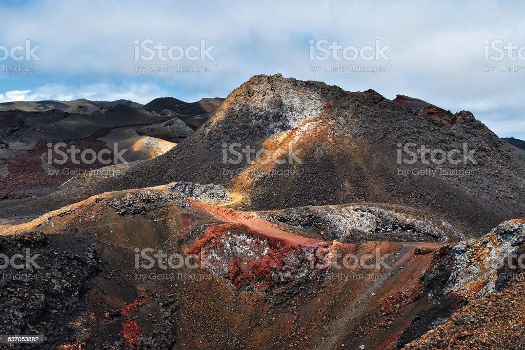 Volcanic landscape, Isabela Island, Galapagos, Ecuador stock photo