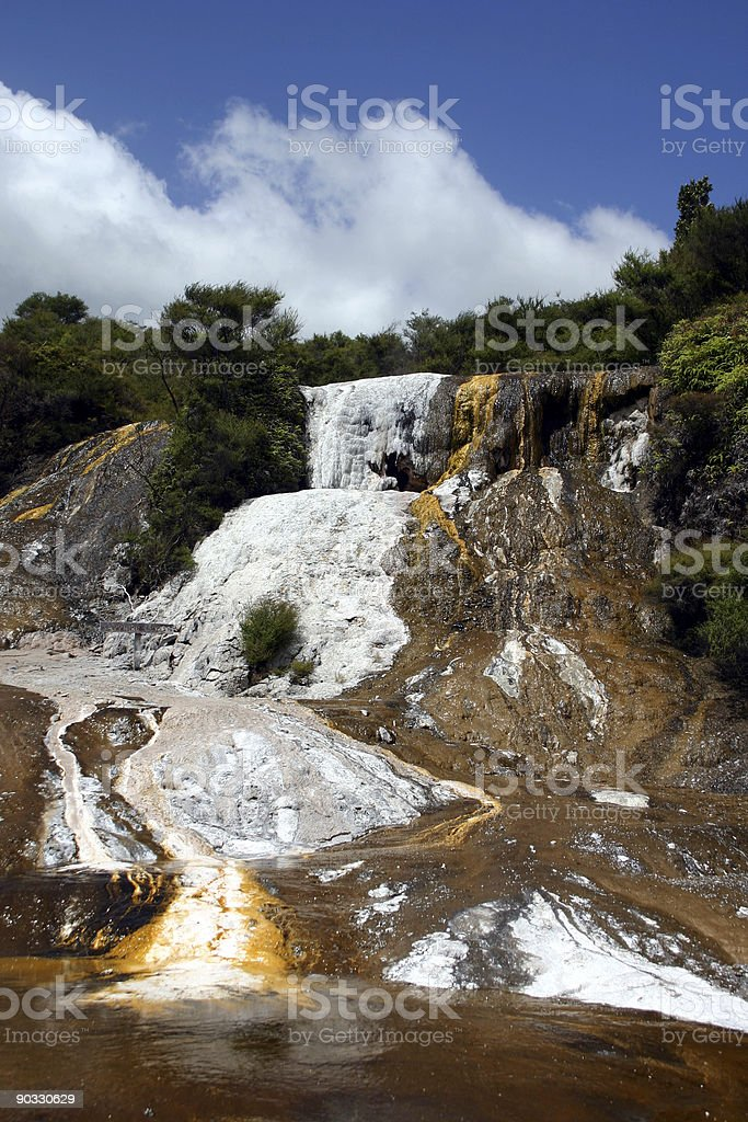 volcanic landscape like on another planets surface royalty-free stock photo