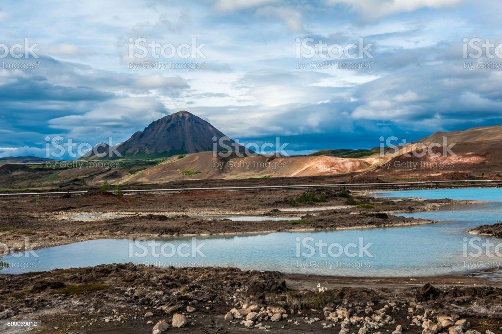 Volcanic landscape of Iceland stock photo