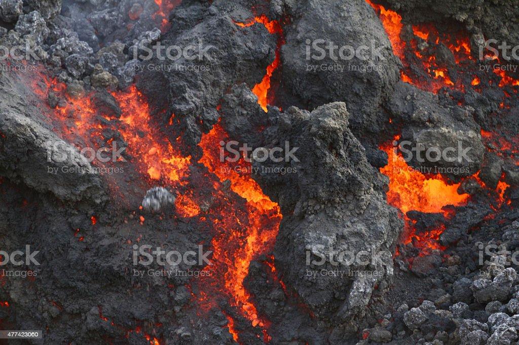Volcanic lava stock photo