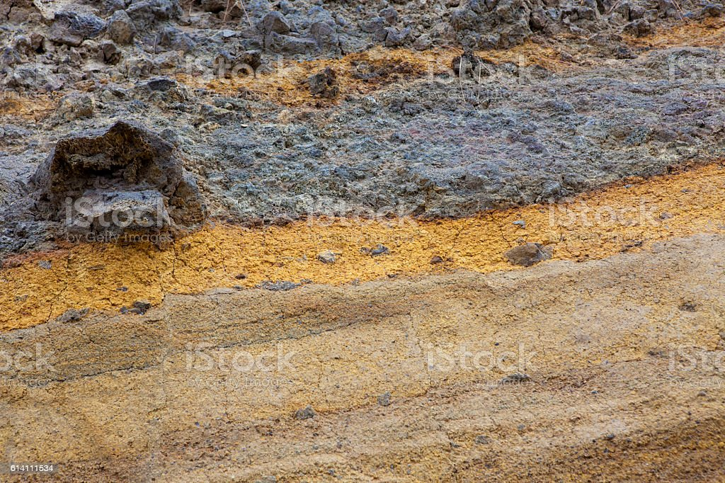 Volcanic layers stock photo