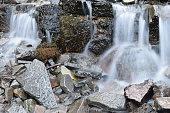 Volcanic mini waterfall