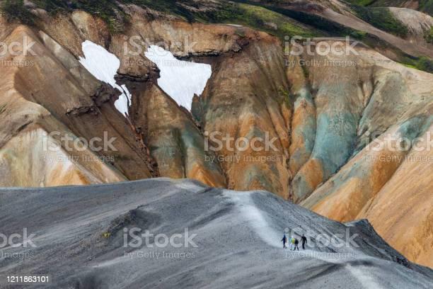 Photo of Volcanic mountains of Landmannalaugar in Fjallabak Nature Reserve. Iceland