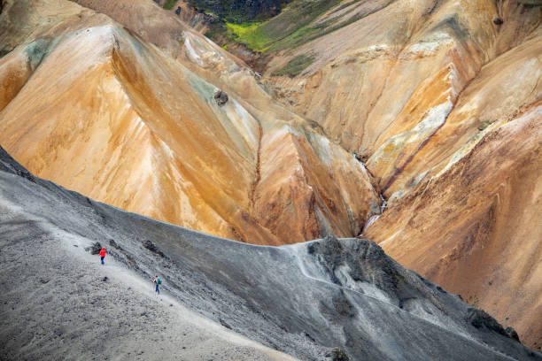 Volcanic mountains of Landmannalaugar in Fjallabak Nature Reserve. Iceland stock photo