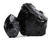 Volcanic Obsidian, lava from Aeolian islands.