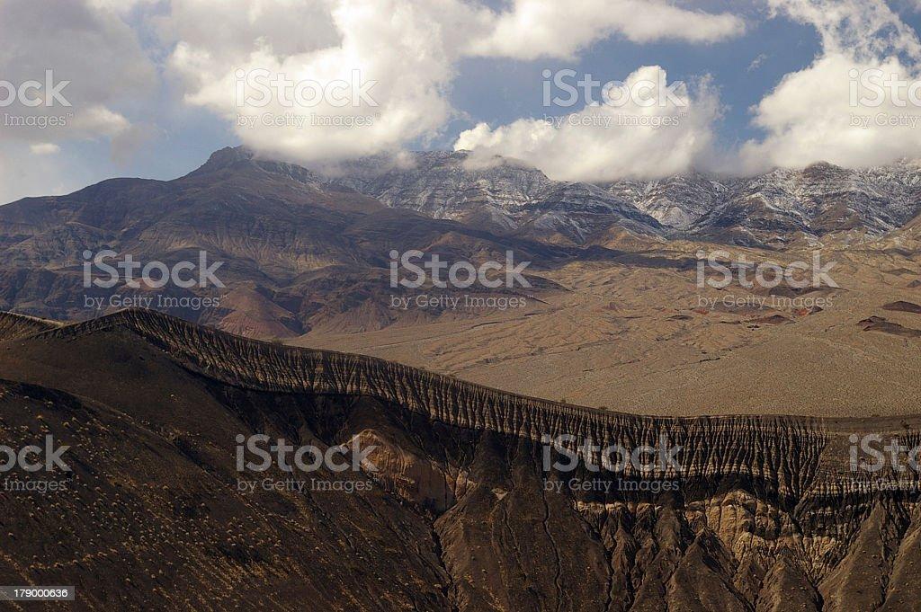 Volcanic rim stock photo