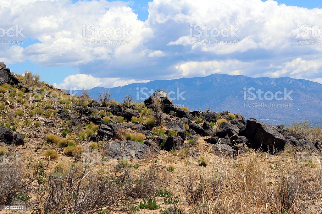 Volcanic Rock Escarpment stock photo