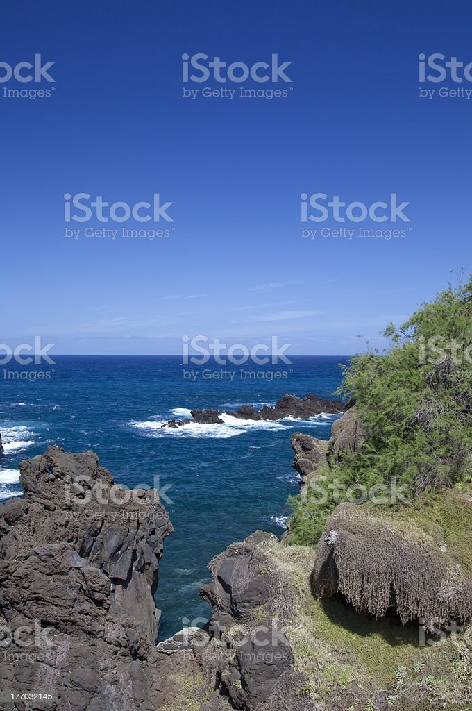 Volcanic Rock Swimming Pools, Madeira, Portugal royalty-free stock photo