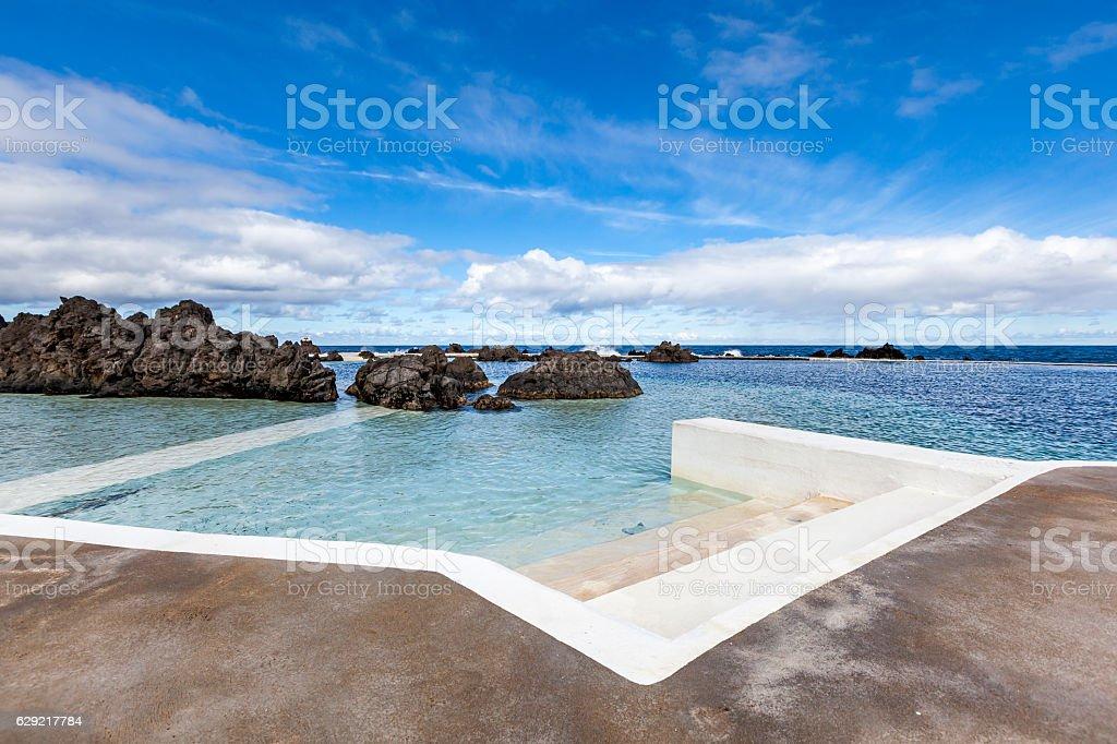 Volcanic Rock Swimming Pools Madeira Portugal Stockfoto und ...