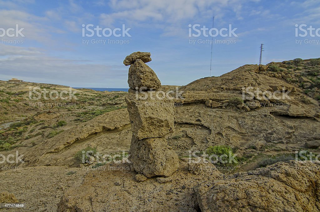 Volcanic Rocks Column royalty-free stock photo