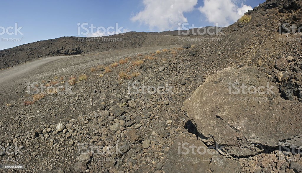 Volcanic stones on the Mt. Etna royalty-free stock photo