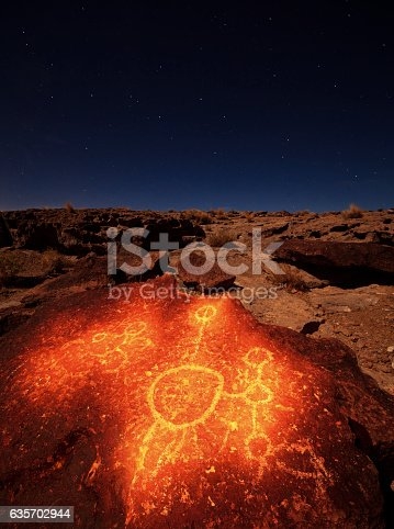 Volcanic Tablelands Petroglyph Stock Photo & More Pictures of Archaeology