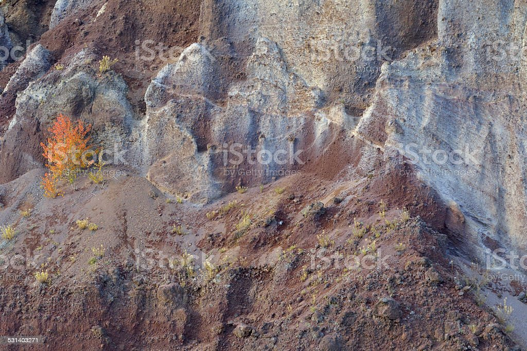 Volcanic wall at Racos, Barsov stock photo