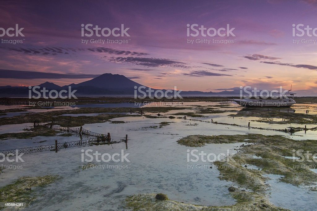 Volcano Agung in Bali stock photo