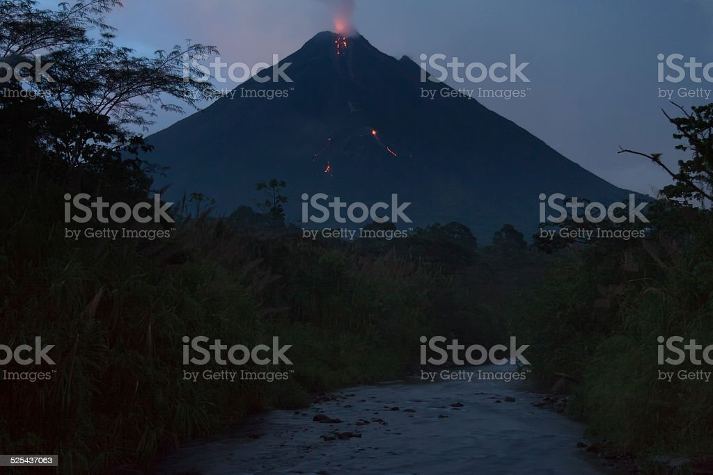 Volcano Arenal in Costa Rica stock photo