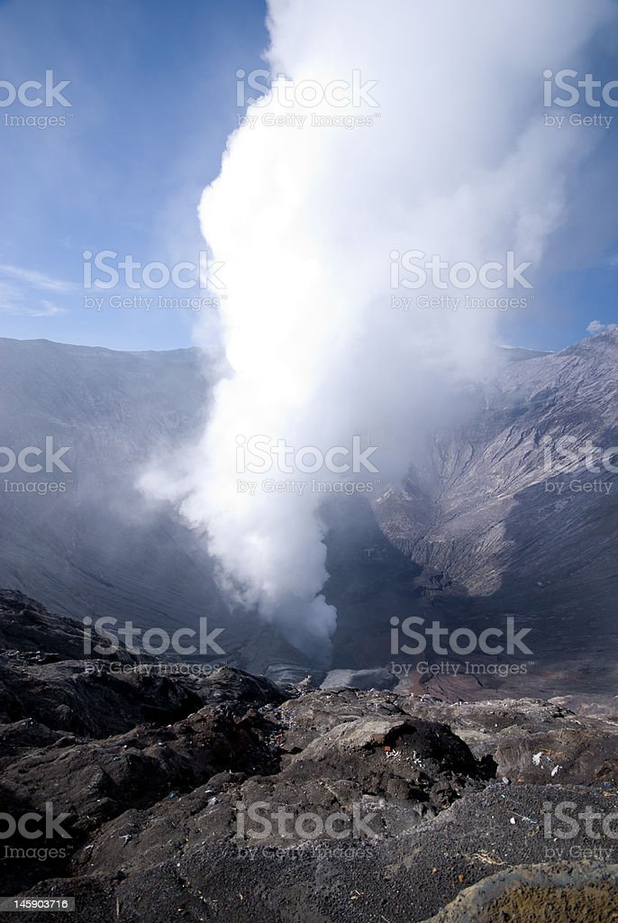 Volcano crater royalty-free stock photo