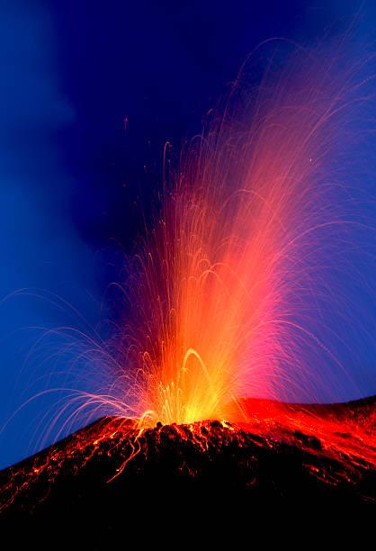 Volcano eruption  Hawaii stock photo