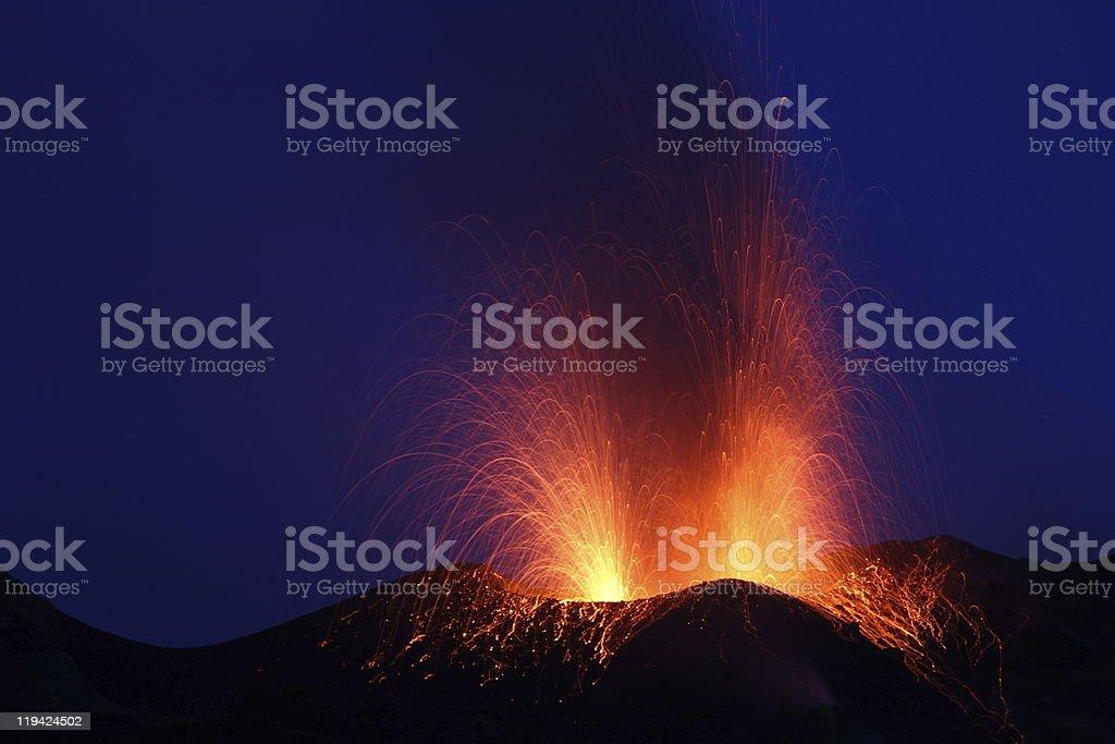 volcano eruption royalty-free stock photo