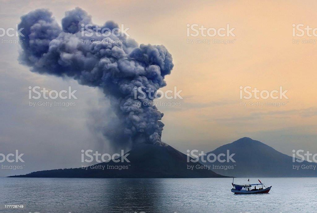 Volcano eruption. stock photo