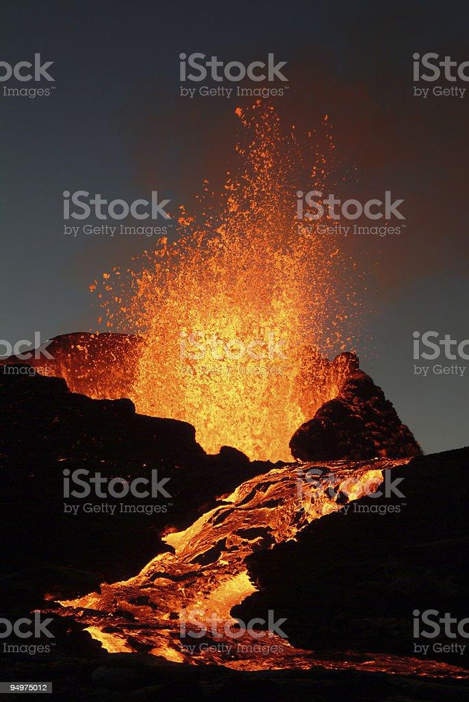 Volcano eruption  Anger Stock Photo