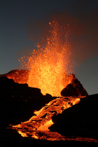 Volcano Eruption Stock Photo - Download Image Now