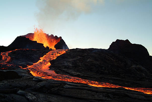 volcano eruption  volcano stock pictures, royalty-free photos & images