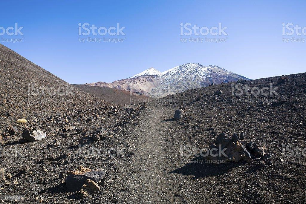 Volcano hiking royalty-free stock photo