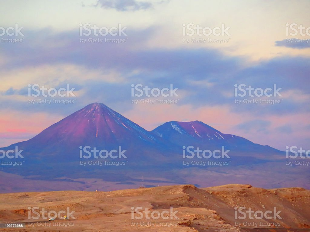 Volcano in Chile stock photo