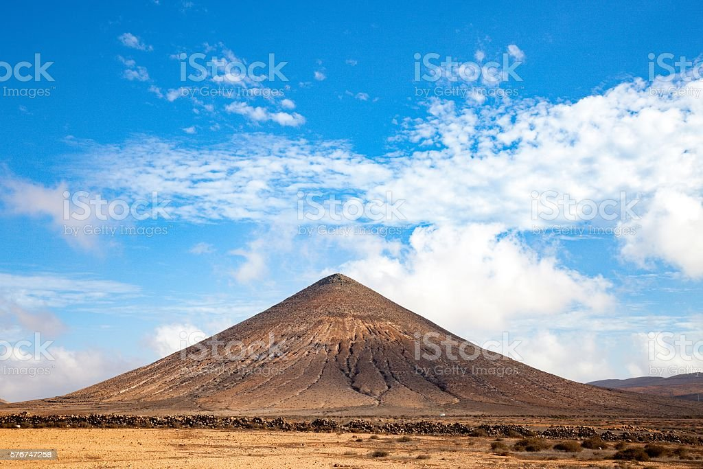 Volcano in fuerteventura stock photo