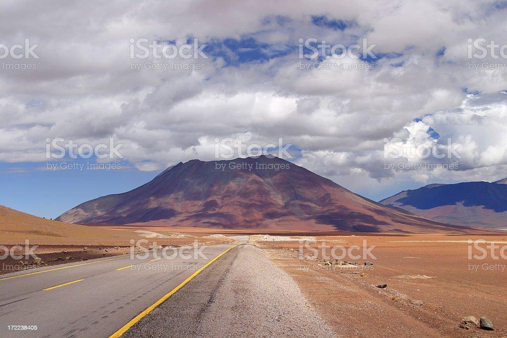 Volcano in the Atacama Region - Chile royalty-free stock photo