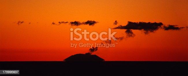 istock Volcano Island at sunset 175995637