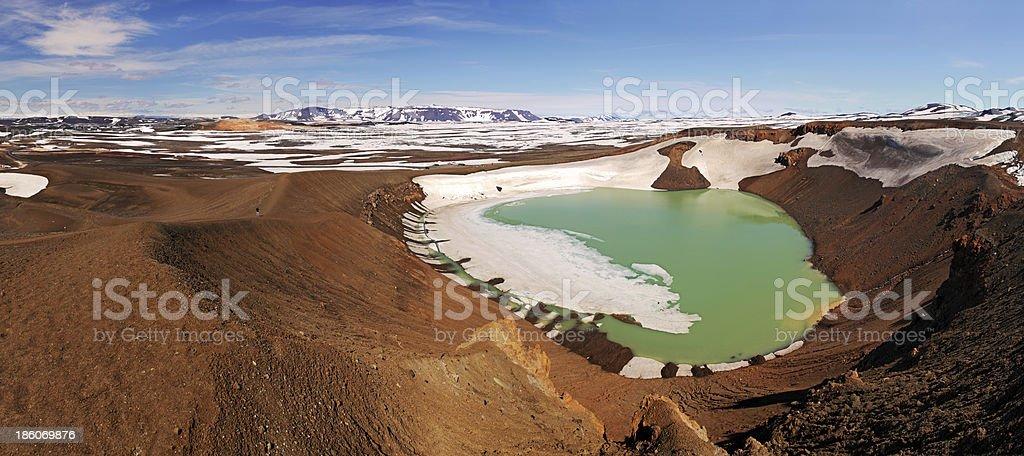 Volcano Krafla, Iceland stock photo