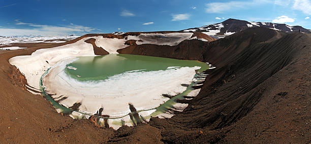 Volcano Krafla, Iceland Volcano Krafla, Iceland namaskard geothermal area stock pictures, royalty-free photos & images