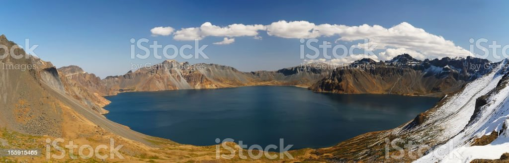 Volcano lake royalty-free stock photo