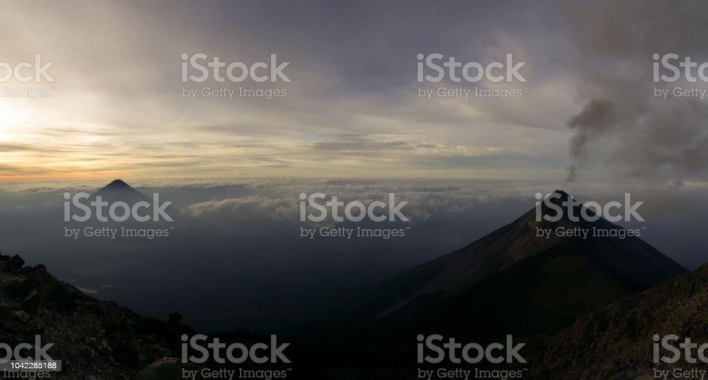 Volcano landscape of Guatemala stock photo