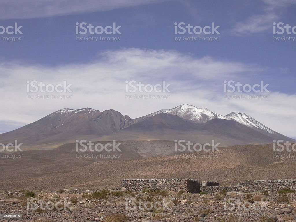 Volcano Landscape royalty-free stock photo
