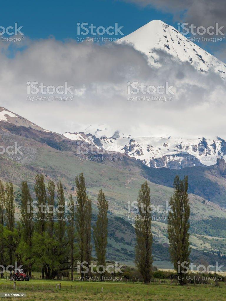 Volcano Lanin stock photo
